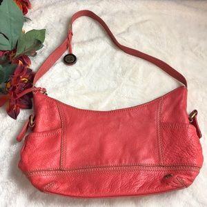 The Sak orange leather bag